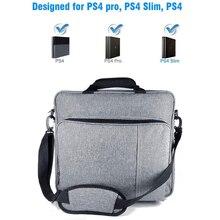 PS4/PS4 프로 슬림 원래 크기에 대 한 새로운 핸드백 플레이 스테이션 4 Consol 다기능 가방에 대 한 어깨 캐리 캔버스 케이스를 보호