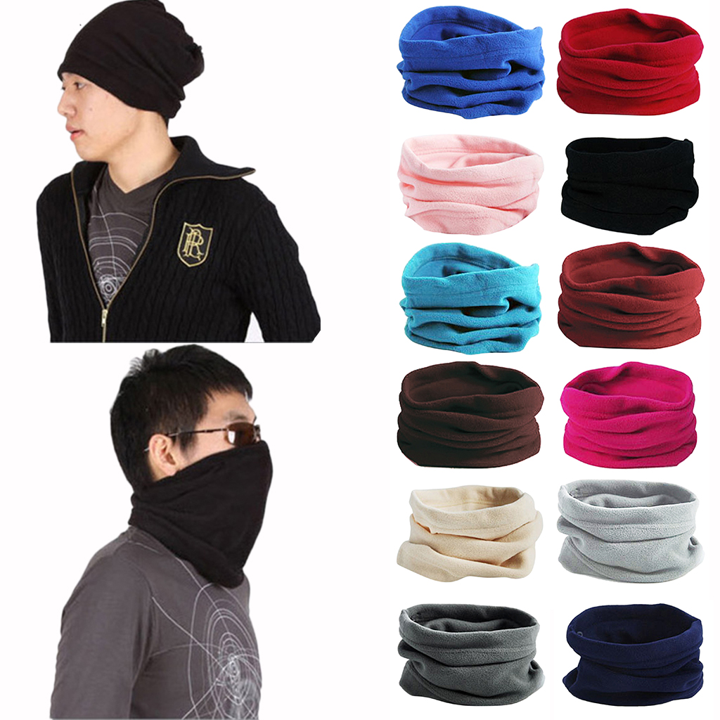 Trendy Polar Fleece Neck Warmer Comfy Snood Scarf Ski Motorbike Mask Neckwarmer Thermal Polar Fleece Snood Scraf