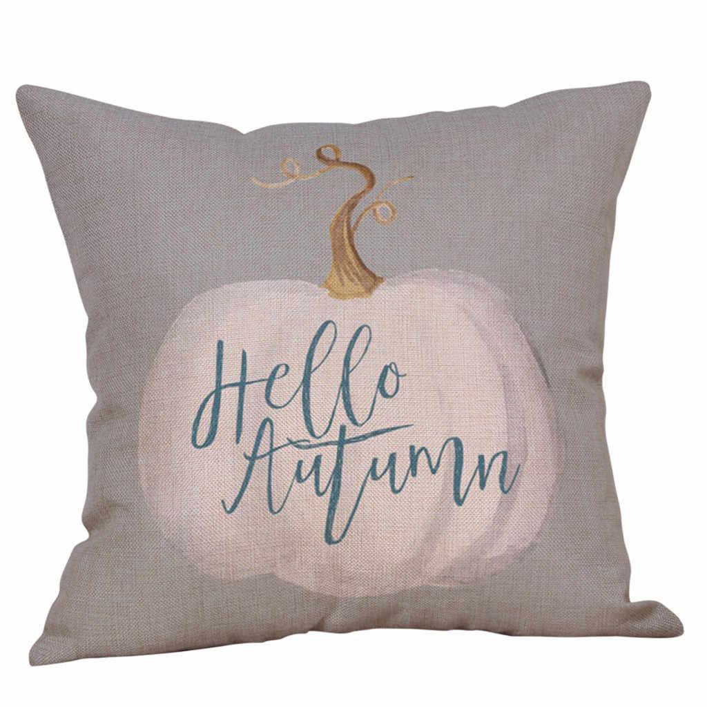 اليقطين غطاء الوسادة سعيد هالوين كيس وسادة زهرة المطبوعة المنزل وسادة للديكور غطاء أغسطس #16