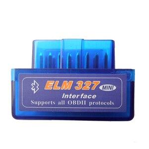 Image 2 - New Version Diagnostic Tool Code Reader V2.1 Blue Color Super Mini ELM327 ELM 327 Bluetooth OBD II OBD OBD2 Scanner