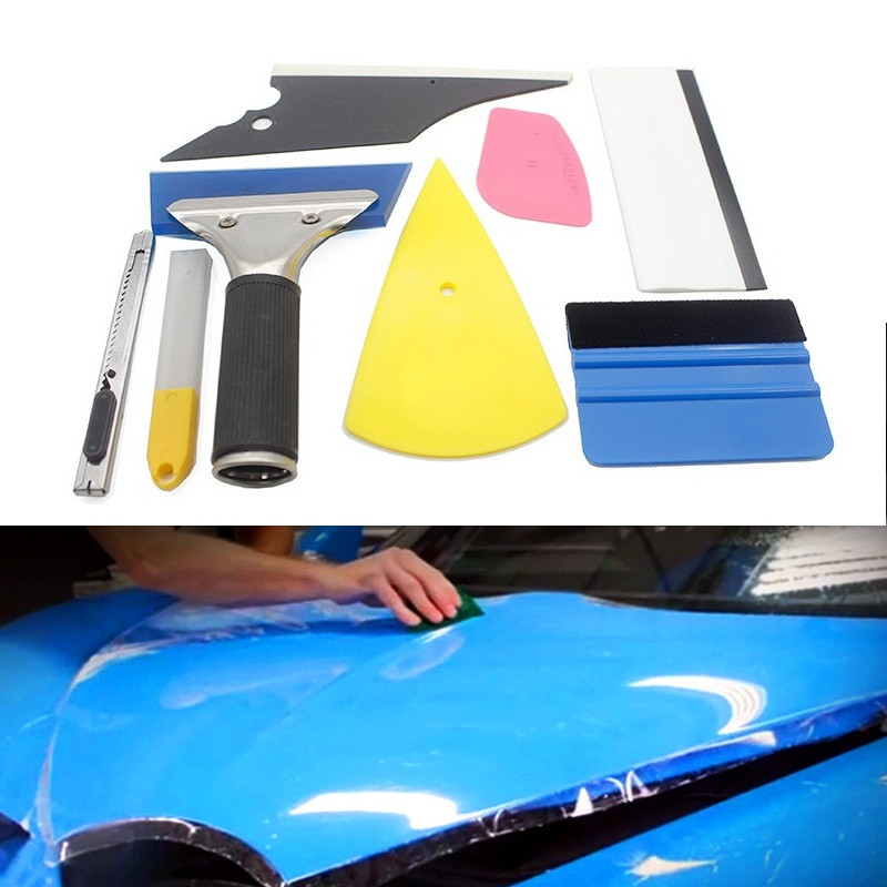 NEW Car Body Wrapping Sticker Installation Auxiliary Tools Scraper Set