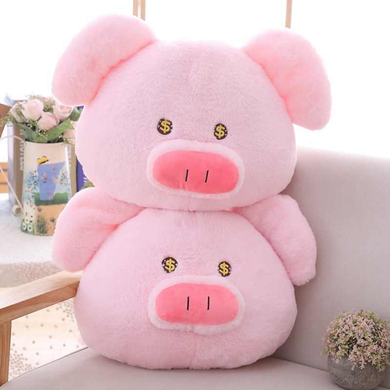 Милая розовая пиггольдовая Подушка мохнатые игрушки золотые глаза пушистые