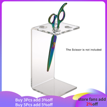 Professional Hair Scissor Comb Holder Salon Scissor Shear Rack Hairdressing Combs Organizer Acrylic Transparent for Barber