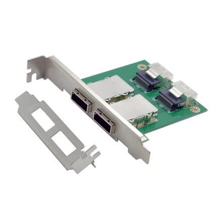 8087 a 8088 8087 para Externo Mini Porta Dupla Adaptador Cartão Conectar 8088 Placa-mãe Sas
