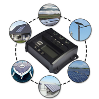 10A Charge Controller PWM Solar Controller 12/24V Intelligent Identification USB Solar Panel Controller RV Charge Controller