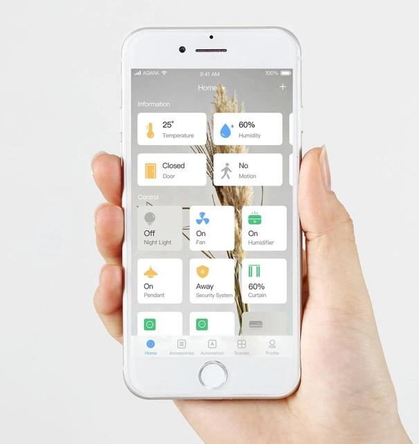 Aqara-Gateway Aqara Hub App   Zigbee, WIFI Zigbee, avec led RGB, pour Apple Homekit Mihome, vie intelligente