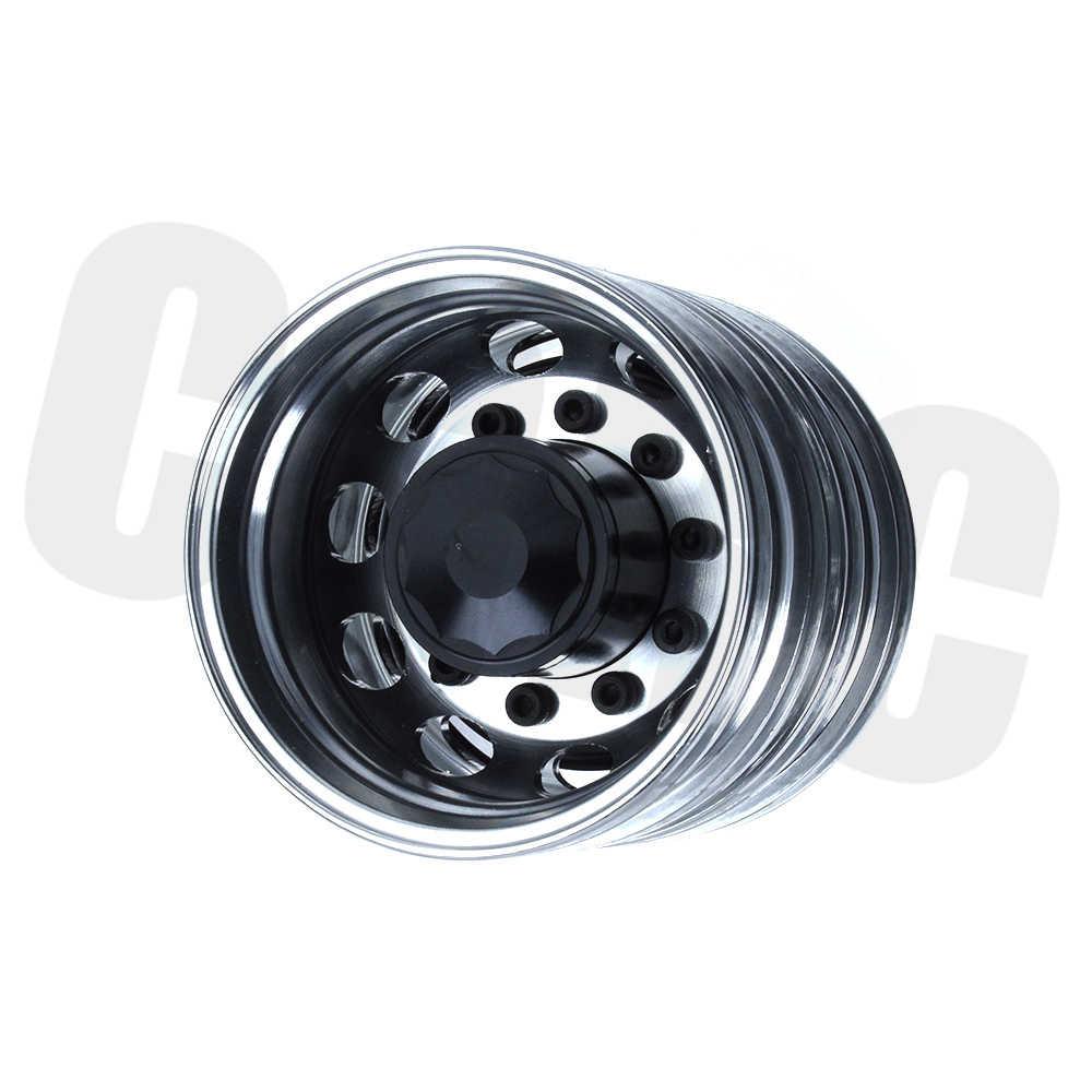 1:14 Rc Auto Hoge Kwaliteit Metalen Legering Achterwiel Hub Voor 1/14 Tamiya Tow Slepen Trailer Truck 58348 1851 56335 scania Upgrade Onderdelen