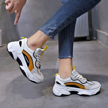 Autumn Women Chunky Sneakers 2019 New Platform  White Casual Dad Shoes Breathable Sports