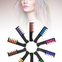 10 шт., одноразовая краска для волос, мини-расческа для волос, Временный Мел для волос, набор для окрашивания волос, Цветной мел для волос, набор, быстрая