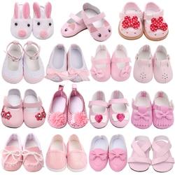 18 дюймов американская кукла для девочек; Розовое платье принцессы; Обувь для новорожденных детские игрушки аксессуары подходят; Большие ра...