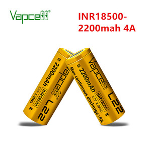 Vapcell Original 18500 2200 mah 4A 3 .7 v rechargeable lithium battery for flashlight power tool batteries hot sale