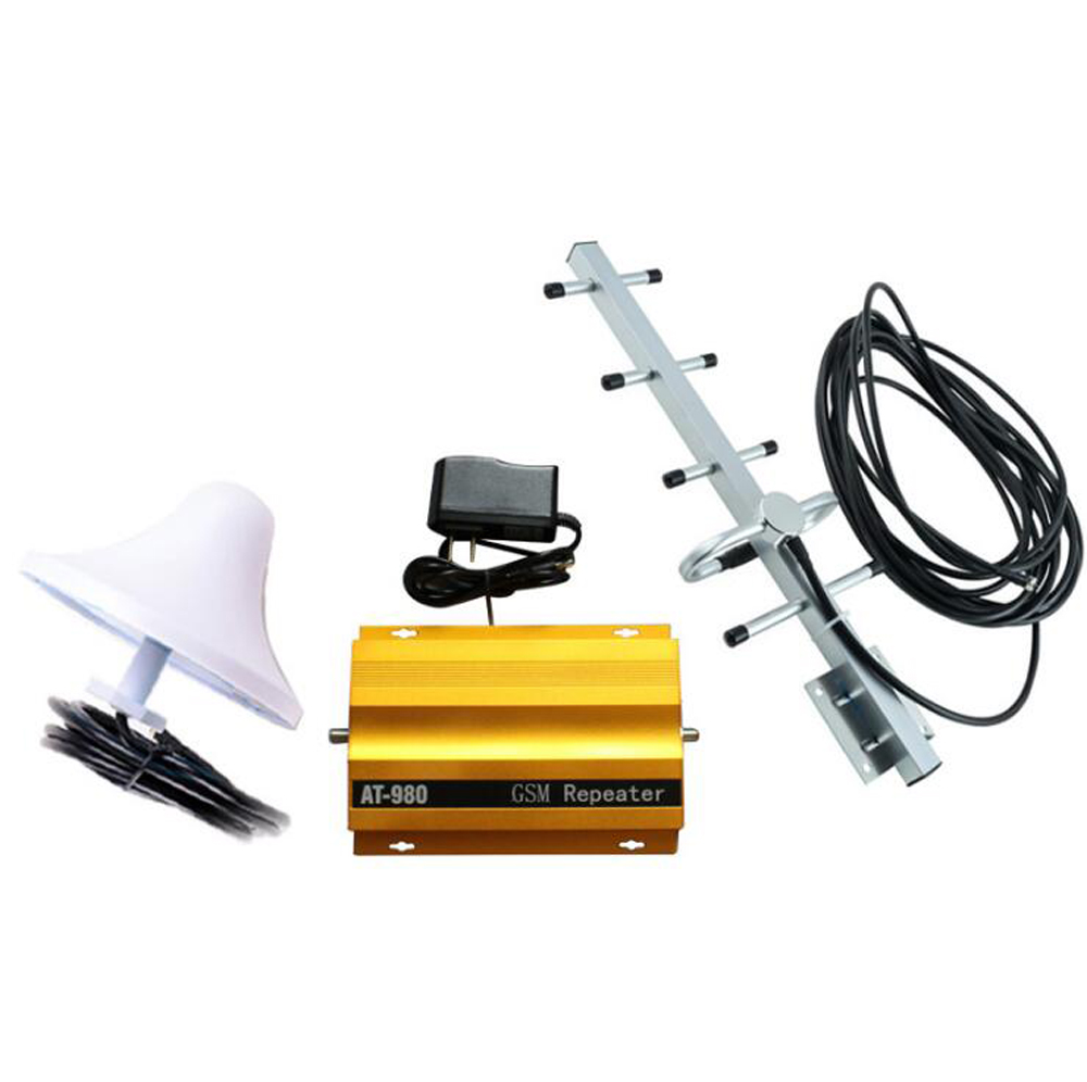 New AT980 Mobile Phone Signal Booster Cell Phone 2G GSM900MHz Signal Repeater for Home Amplifier Complete Set