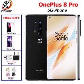 Купить Новый оригинальный OnePlus 8 Pro 5G мобильный телефон с двумя sim-картами 8/12G RAM 128/256GB Snapdragon865 6,78 дюймполноэкранный 48MP 4510mAh NFC Android10