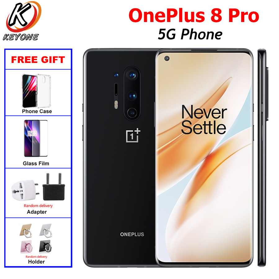 "NEW Original OnePlus 8 Pro 5G Mobile Phone Dual SIM 8/12G RAM 128/256GB Snapdragon865 6.78""Fullscreen 48MP 4510mAh NFC Android10"