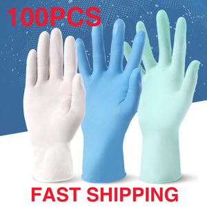 Image 1 - 20 50 100 Pcs Disposable Nitrile Safety Gloves Protective PVC100 Rubber Anti Dust Waterproof Non Contact Work Kitchen Gloves