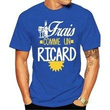 T-shirt col rond pour hommes, mode, court, personnalisé, Frais Comme Un Ricard, vin, 2021