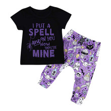Get more info on the Summer Fashion Baby Boys Halloween Letter Print Tops+ Pants Clothes Outfits Set 9.10