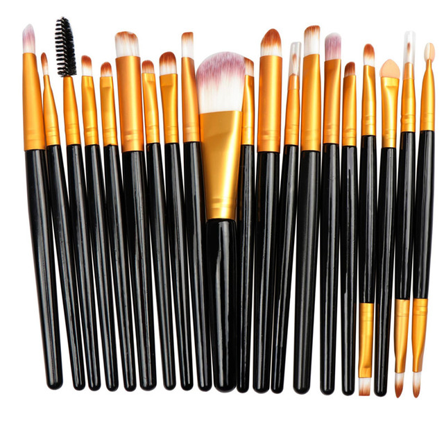 20Pcs/lot Eyeshadow Makeup Brush Set Fashionable Eyebrow Eye Shadow Powder Cosmetic Kit 2