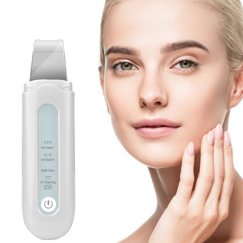 Ultrasonic Deep Face Cleaning Skin Scrubber Ion Vibration Acne Blackhead Removal Exfoliating Peeling Spatula Pore Cleaner Tool 1