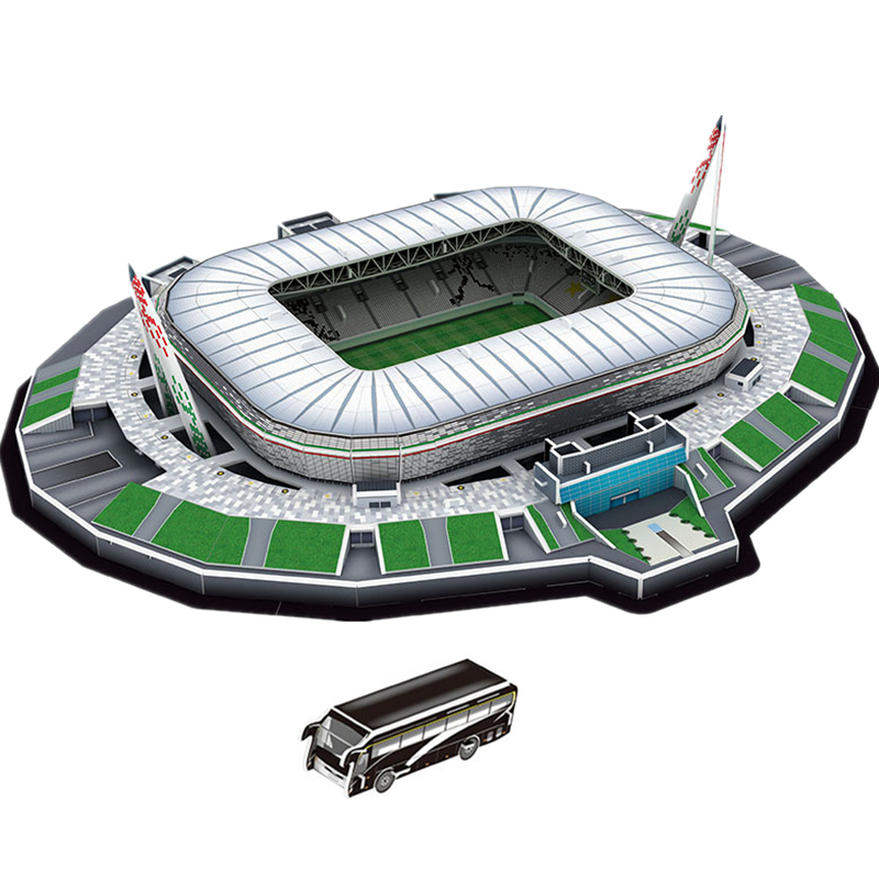 [Funny] Cristiano Ronaldo Turin Italy Juventus F.C. Alessandro Football Game Stadiums Building Model Toy Kids Gift Original Box