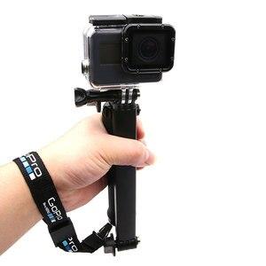 Image 3 - Dragonne/dragonne pour GoPro Hero 8 7 6 5 sessio 4 sj5000 SJ6 sj8 xiaoyi 4K DJI Osmo lanière de caméra daction logo de ceinture à dégagement rapide