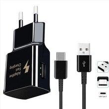 Dla Samsung galaxy czuć 2 A40 A50 A70 A20 A90 S8 S9 A7 A5 2017 telefon QC 3.0 4.0 szybka ładowarka i typ C USB szybkie ładowanie kabel