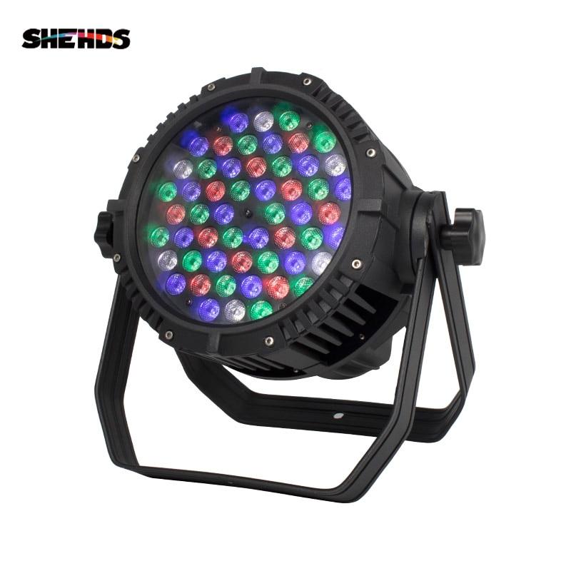 Outdoor LED Par 54x3W RGBW Lighting LED Projector IP65 DMX Waterproof Stage Effect Lighting DJ Disco Party Lights Club Dance