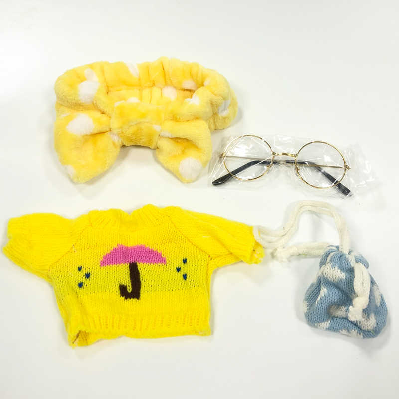 น่ารักตุ๊กตาเสื้อผ้าอุปกรณ์เสริม LaLafanfan Cafe เป็ดตุ๊กตาของเล่น Kawaii สาวผมล้างหน้ารองเท้าวิ่งแต่งหน้าวงดนตรีของขวัญ