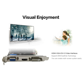 Yeston R5 240-4G D3 VA Graphic Card 650-1333MHz 4G/64bit/DDR3 Gaming Graphics Card with DVI-D / HDMI /VGA 2
