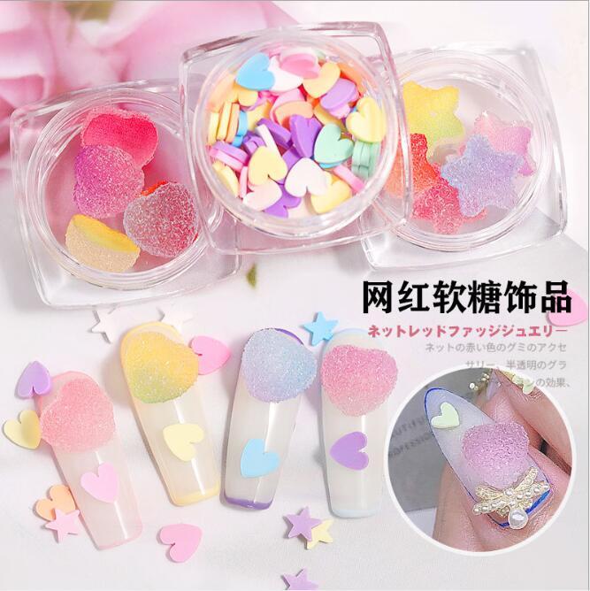 2020NEW! Конфеты мягкие сладости 3D украшения для ногтей сахарное желе мягкое сердце звезда милые конфеты японский стиль ювелирные изделия для ...
