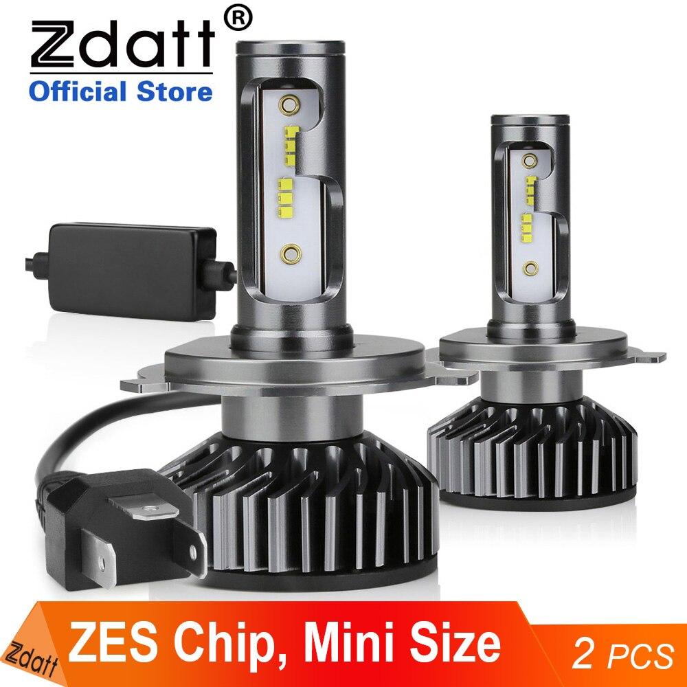 Zdatt H11 led лампы H1 H8 H4 H7 led лампы для авто 20000LM 100W 6000K HB3 HB4 диодные лампы для авто 12V ZES чип турбо противотуманная фара 2 шт. автомобильные лампы