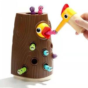 Image 1 - ベビー玩具新木製磁気釣りゲーム色 Cogniton 早期学習教育のおもちゃキッズギフト屋外おもちゃセット