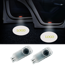 2pcs/lot Welcome Light for Car LED Door For Porsche Cayenne No Cir Logo Courtesy Projector Lamp