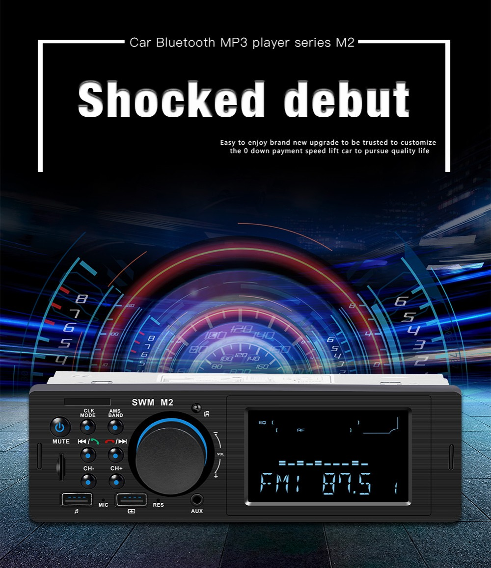 Bluetooth FM AUX Mp3 Bluetooth Car Radio Stereo Receiver 1 Din Auto Cars Audio Modulator Central Multimedia Cassette player (28)