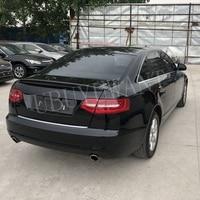 Carbon Fiber Belgium Style Exterior Rear Trunk Spoiler Car Tail Boot Wing Decoration For Audi A6 C6 2009 2010 2011 2012