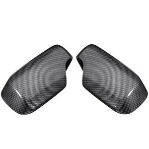 Cubiertas para espejo retrovisor, 1 par, tapas con patrón de fibra de carbono, repuesto para Bmw E46 1998-2005 51168238376 51168238375