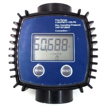 K24 Регулируемый цифровой турбинный расходомер для масла, керосина, химикатов, бензина, метанола, воды, мочевины, etc. 10-120 л/мин