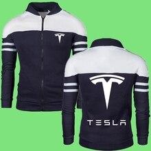 2021 New Mens Hoodies Sweatshirts Fashion Hoodie Tesla Printed Casual Hooded Coat Zipper Cardigan Brand Clothing