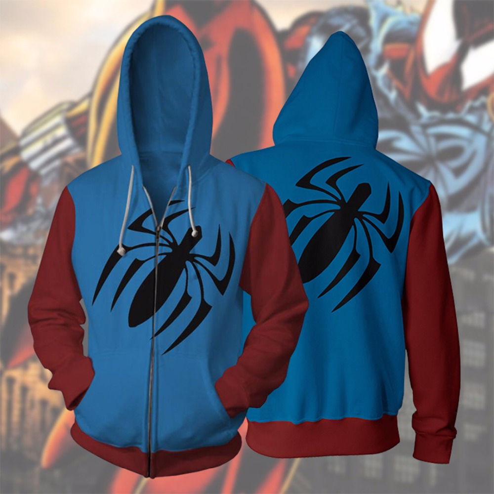 Superhero Iron Man Spiderman Clothes Mens Hoodies Zipper Sweatshirt 3D Peter Parker Miles Morales Hoodie Jackets Casual Coats