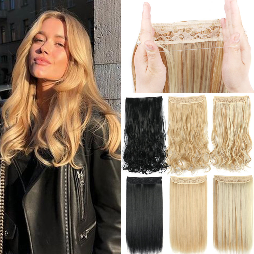 Накладные волосы Halo без зажима в леске искусственные волосы синтетические волосы цветные натуральные коричневые черные бахромы искусстве...