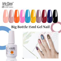 Arte Clavo Nail Gel Black Yellow 228 Colors 15ml Big Bottle Gel Polish UV LED Soak Off Nail Art Manicure Tools Varnish Lacquer