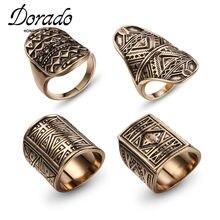 Dorado Vintage Punk 4 unids/set nudillo anillos para las mujeres geométrico bohemio tallado antiguo anillo venta al por mayor de joyería de moda 2020