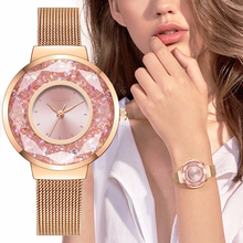 YOLAKO montre de luxe pour femmes, bracelet en acier inoxydable, diamant à mouvement, montre à Quartz strass