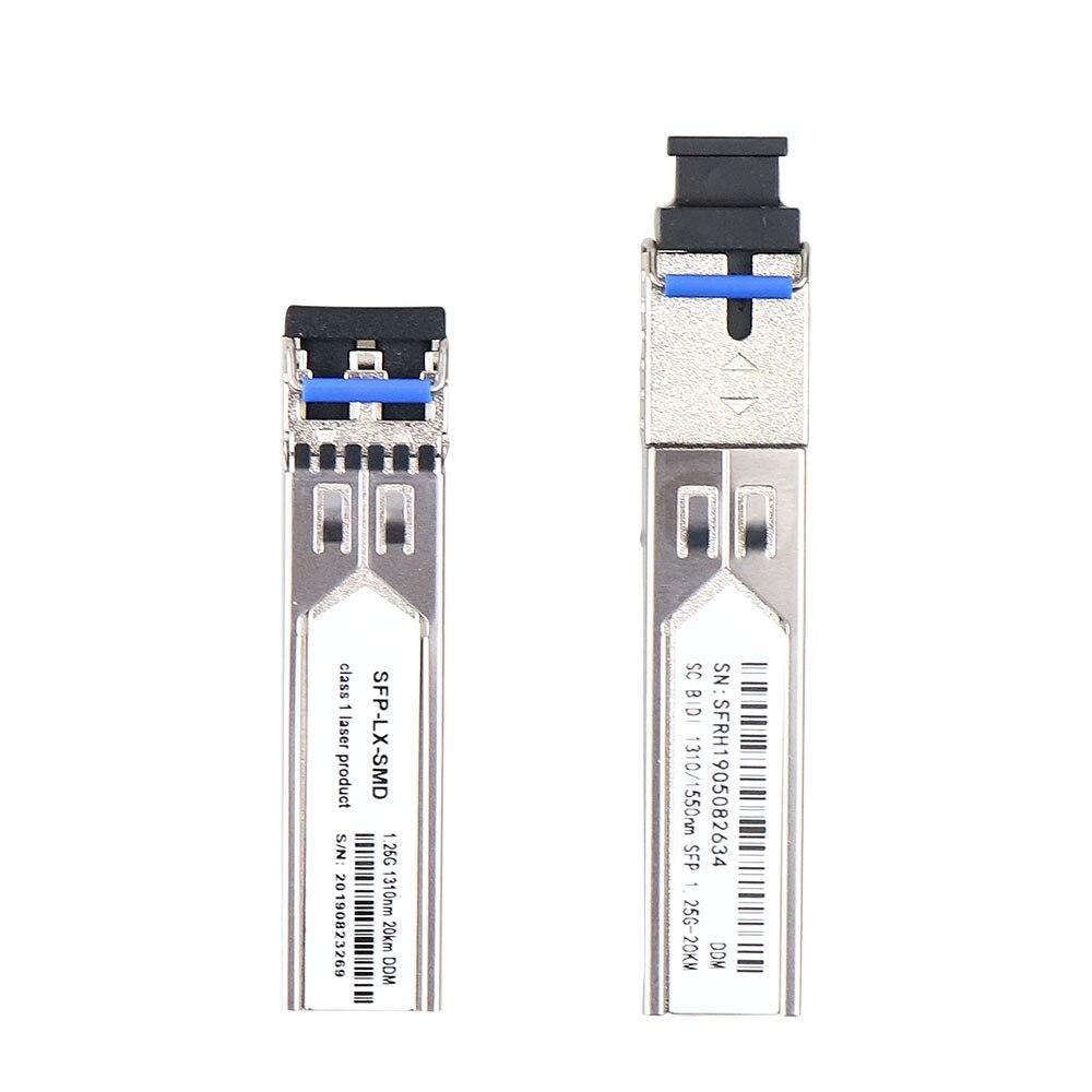 Gigabit SFP Transceiver Single-Mode 1000Base-LX For Ubiquiti UF-SM-1G, 1.25Gb/s SFP LX Module 1310nm/1550nm SC Connector