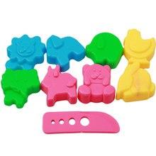 9 pièces/ensemble GIY espace moule sable château pâte à modeler outils Plasticine moules jeu ensemble d'outils Kit pour enfants cadeau jouet magique