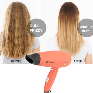 Image 5 - Foldable 1800W High Power Hair Dryer Portable Traveller Blower In Corel Red Hair Dryer and Volumizer HairDiva Secador De Cabelo