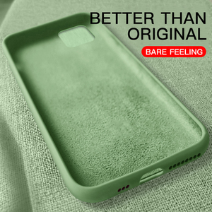 Original Liquid Thin Soft Case For iPhone X Xs 11 Pro Max XR Official Candy Color Silicone Cover Capa For iPhone 7 8 6 6s Plus(China)