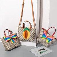 South Korea Dongdaemun CHILDREN'S Bag Women's 2019 New Style Bow Tote Bag G Home Children Pineapple Bag Handbag
