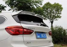 цена на For BMW X1 spoiler SUV 2016-2019 rear wing spoiler Paste Installation ABS Material Rear Roof Trunk Spoiler  Primer Color