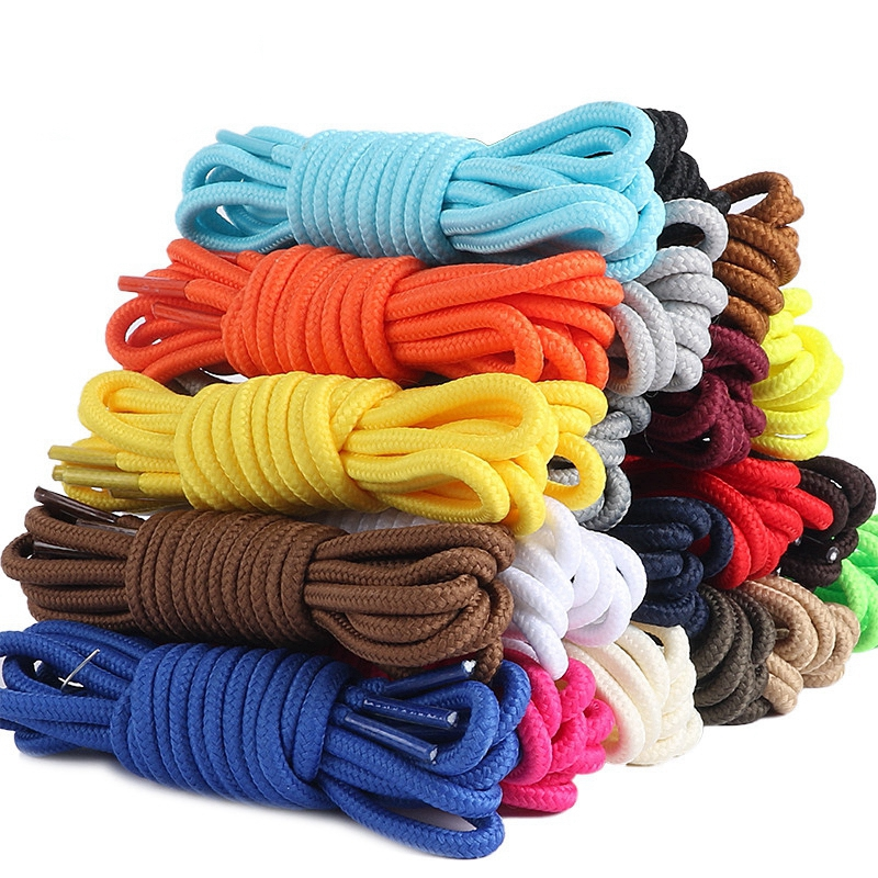 1 Pair 21 Colors Classic Shoelaces Round Polyester Solid Sneakers Shoelace Casual Sports Boots Shoe Laces 90cm/120cm/150cm